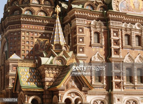 CHURCH AND RESURRECTION IN SAINT PETERSBURG, RUSSIA : Stock Photo