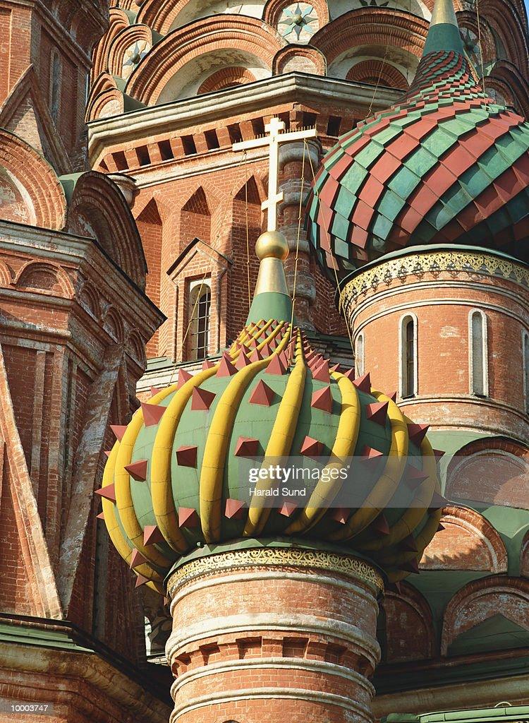 SAINT BASILS CATHEDRAL IN RED SQUARE IN MOSCOW : Stock Photo