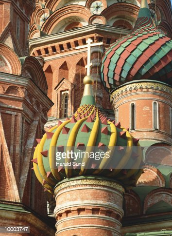 SAINT BASILS CATHEDRAL IN RED SQUARE IN MOSCOW : Stock-Foto