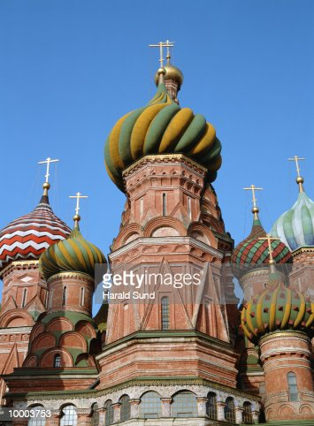 SAINT BASIL'S CATHEDRAL AT RED SQUARE IN MOSCOW : ストックフォト