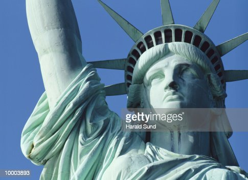 STATUE OF LIBERTY IN NEW YORK : Stock Photo