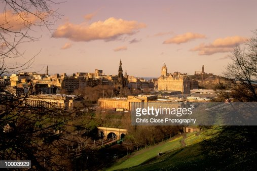 OVERVIEW OF EDINBURGH, SCOTLAND : Stock Photo