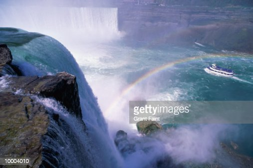 RAINBOW OVER NIAGARA FALLS IN U.S. : Stock Photo