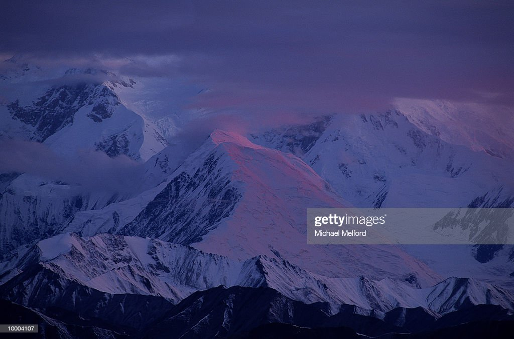 MOUNT MCKINLEY AT THE DENALI NATIONAL PARK IN ALASKA : Stock Photo