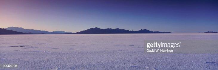 SALT BASIN IN WENDOVER, UTAH : Stock Photo
