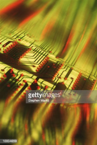 CIRCUIT BOARD IN ABSTRACT : Stock Photo