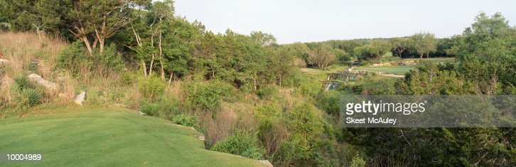 8TH GREEN AT BARTON CREEK IN AUSTIN, TEXAS : Stockfoto