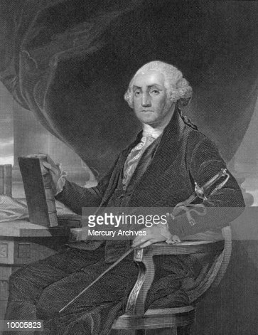 PERSONALITIES: PORTRAIT OF GEORGE WASHINGTON : Stock Photo