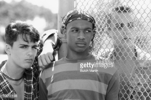 ROUGH MALE STREET TEENAGERS : Stock Photo