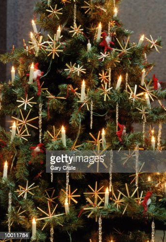 CHRISTMAS TREE IN FINLAND IN DETAIL : Stock Photo