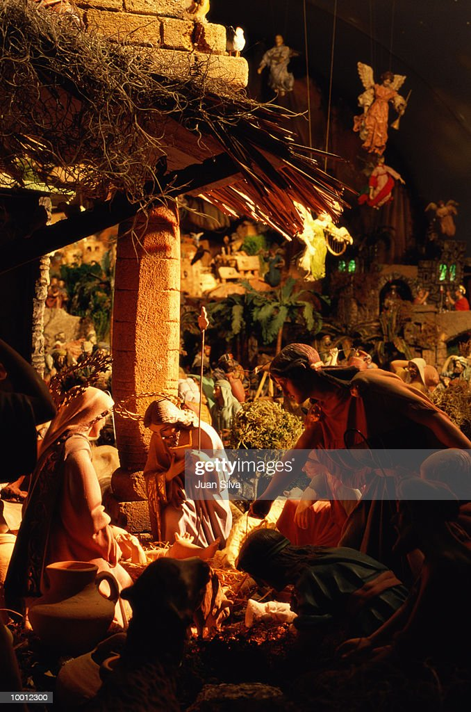 DETAILED NATIVITY SCENE : Stock Photo