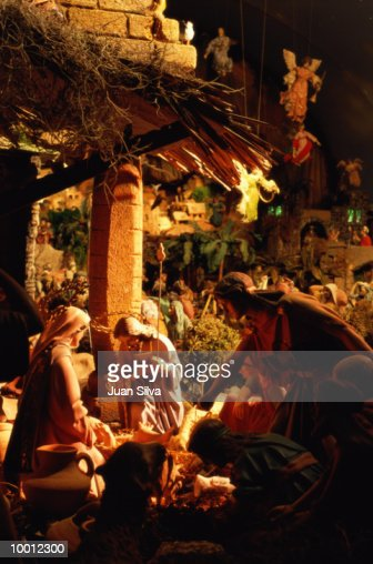 DETAILED NATIVITY SCENE : Stock-Foto