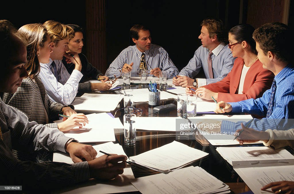 BUSINESS MEETING : Stock-Foto