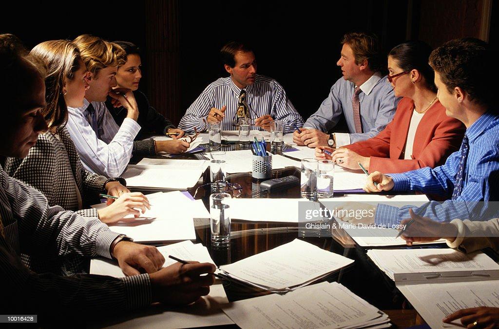 BUSINESS MEETING : Foto de stock