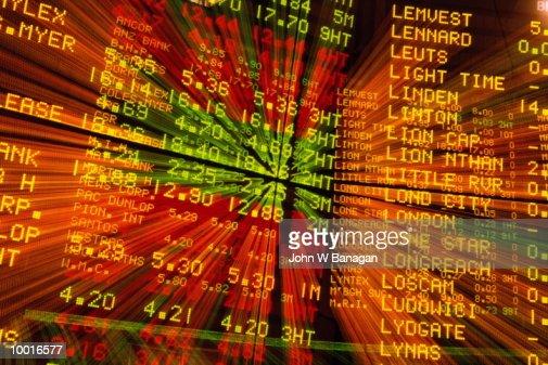 INTERNAL VIEW OF THE AUSTRALIAN STOCK EXCHANGE IN MELBOURNE : Stockfoto