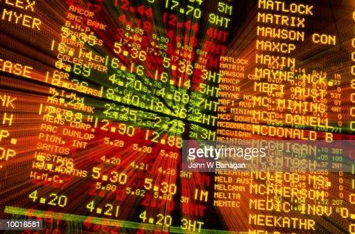 AUSTRALIAN STOCK EXCHANGE IN MELBOURNE : Stock Photo