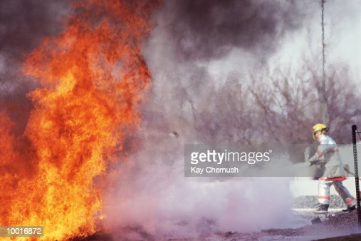 FIREFIGHTERS IN TRAINING IN MARYLAND : Stock Photo