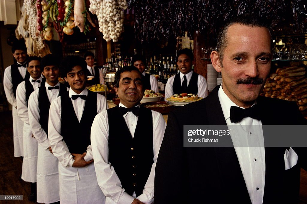 RESTAURANT STAFF IN NEW YORK : Stock Photo