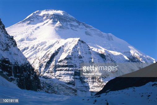 DHAULAGIRI MOUNTAIN IN NEPAL : Stockfoto