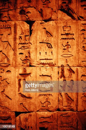 EGYPTIAN HIEROGLYPHICS : Stock Photo