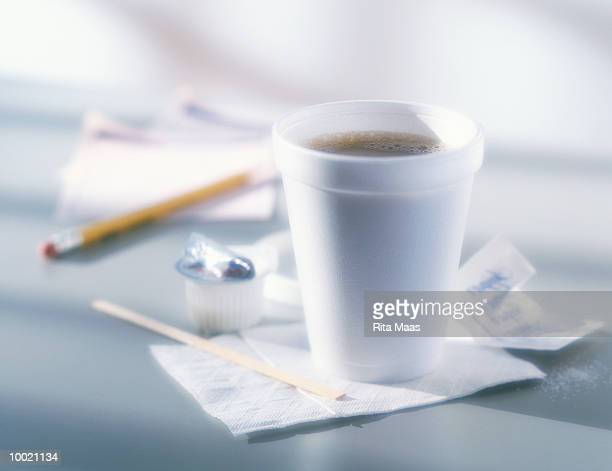 COFFEE IN POLYSTYRENE CUP