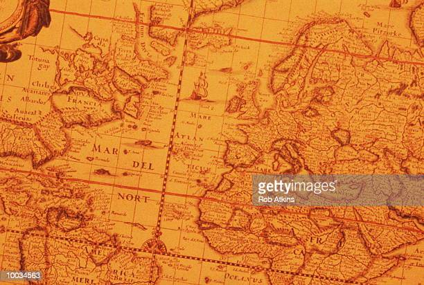 World map vintage fotografas e imgenes de stock getty images ancient world map gumiabroncs Choice Image