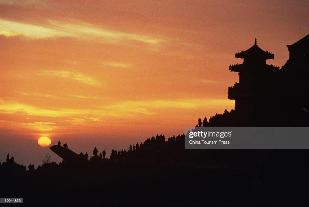 WATCHING SUNRISE ON MOUNT TAISHAN, CHINA