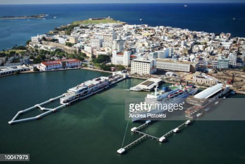 The port in old san juan puerto rico stock photo getty for Mercedes benz san juan puerto rico