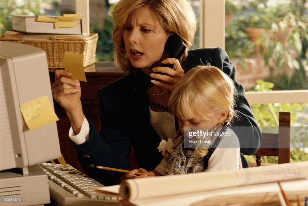 WORKING MOM : Stock Photo