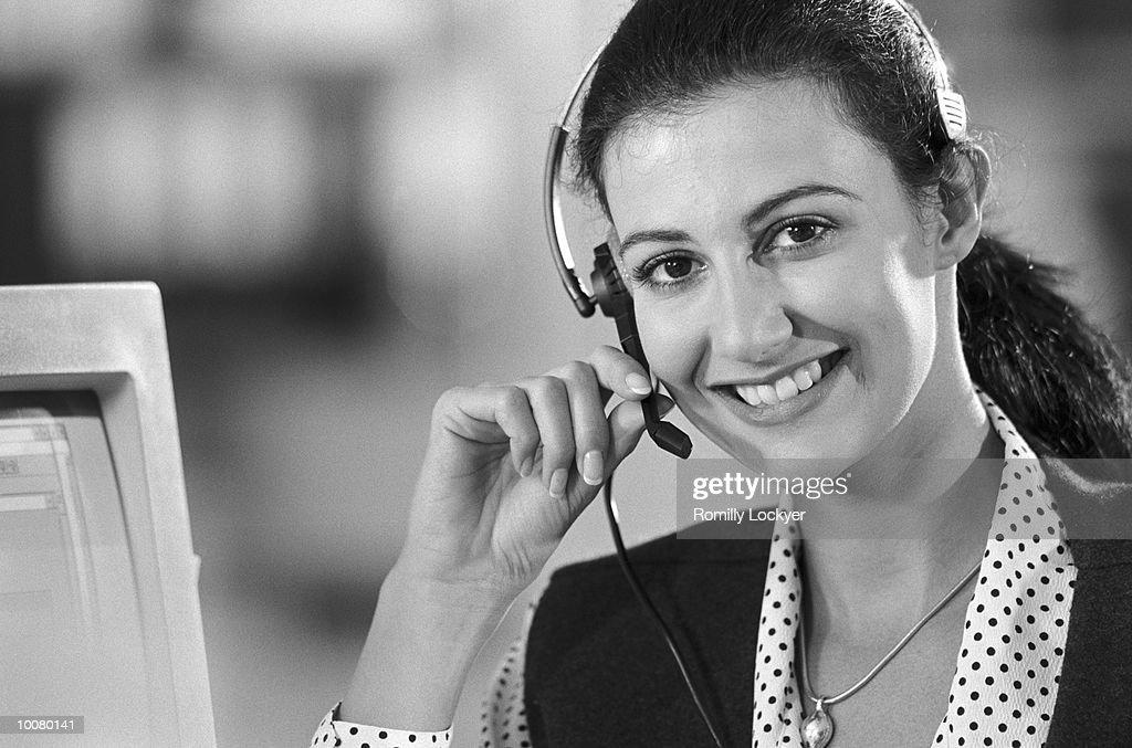 TELEPHONE RECEPTIONIST : Stock Photo