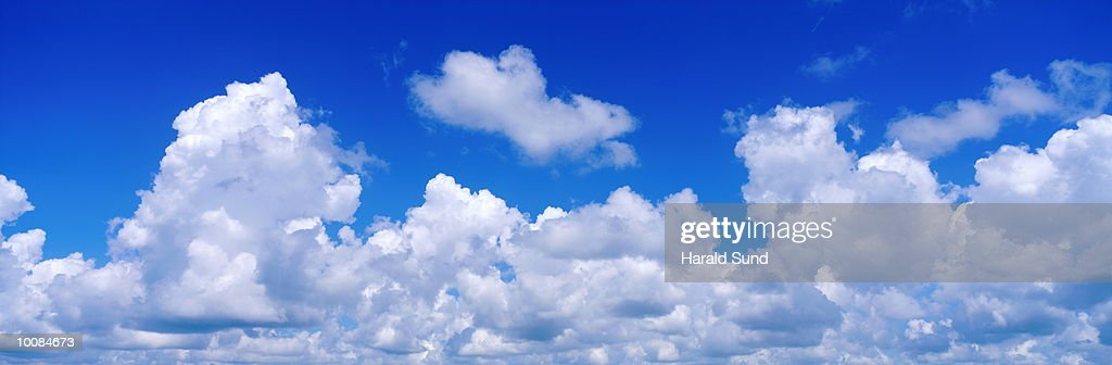 CLOUDS AND BLUE SKY IN THE DOMINICAN REPUBLIC : Stock Photo