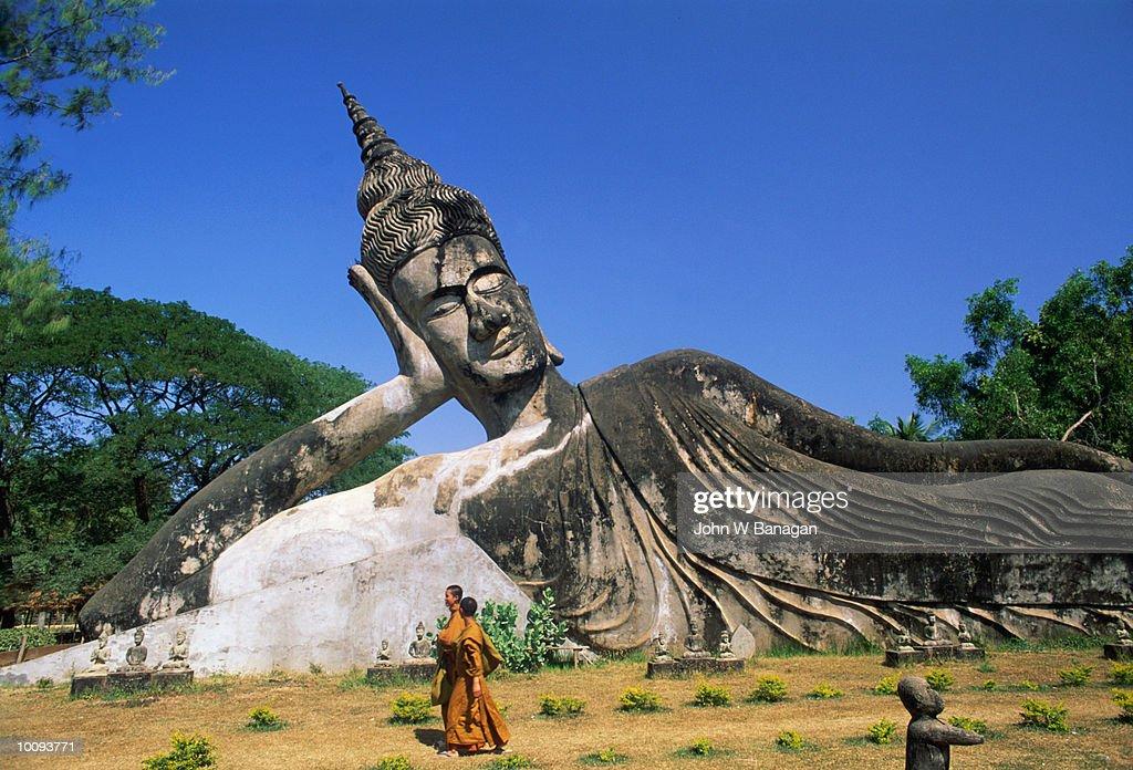 GARDEN OF THE BUDDHAS IN VIENTIANE, LAOS : Stock Photo