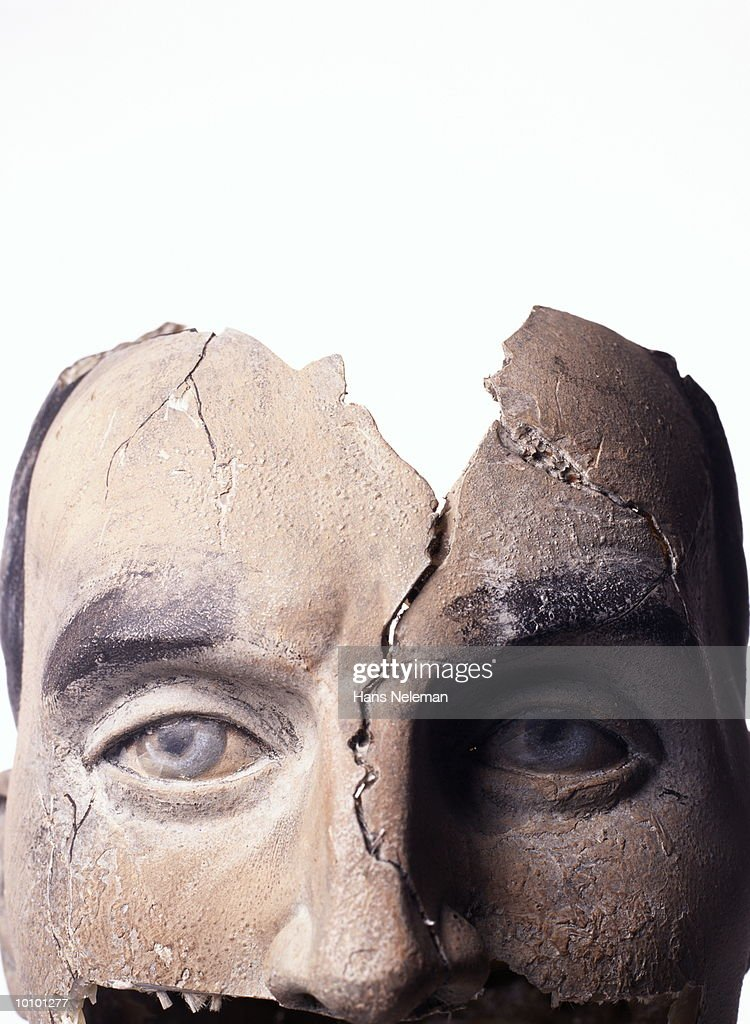 CRACKED HEAD : Stock Photo