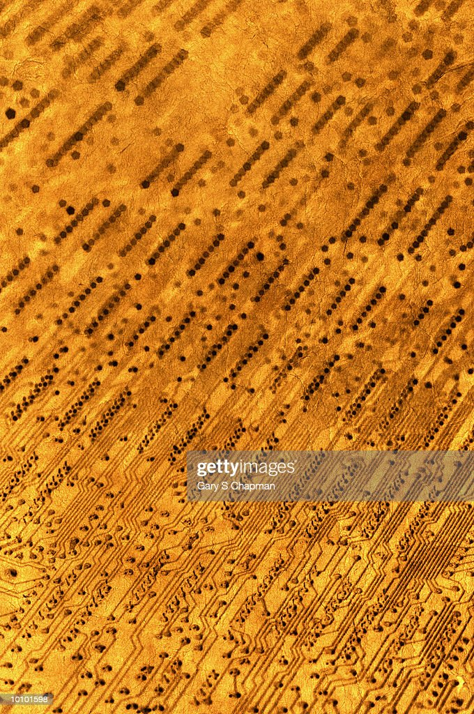 TEXTURED CIRCUIT BOARD : Stock Photo
