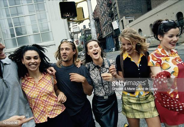 GENERATION X GROUP IN SOHO, NEW YORK CITY