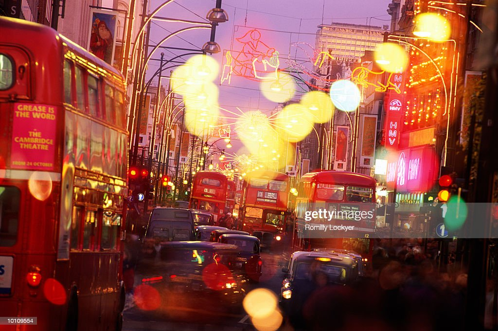 OXFORD STREET AT CHRISTMAS IN LONDON