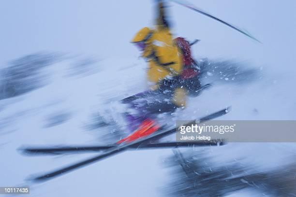 MALE SKIER JUMPING, SAINT ANTON, AUSTRIA