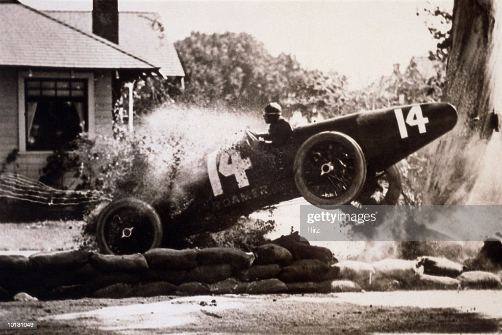 Race Car Crashing Stock Photo Getty Images