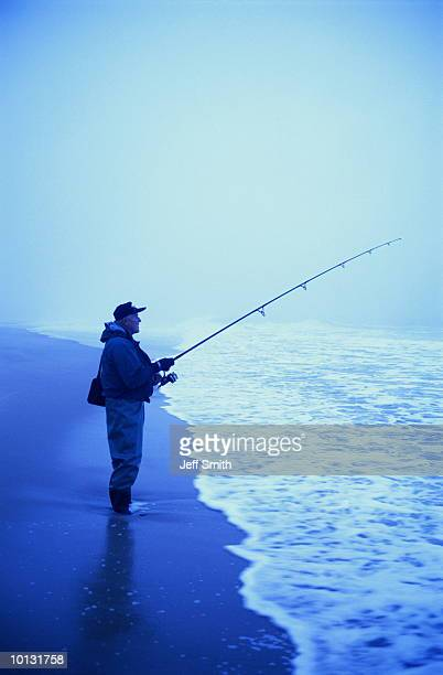 SURF FISHERMAN IN FOG