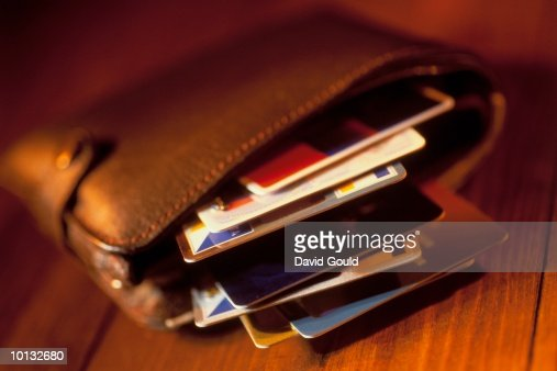 CREDIT AND BANK CARDS IN A WALLET