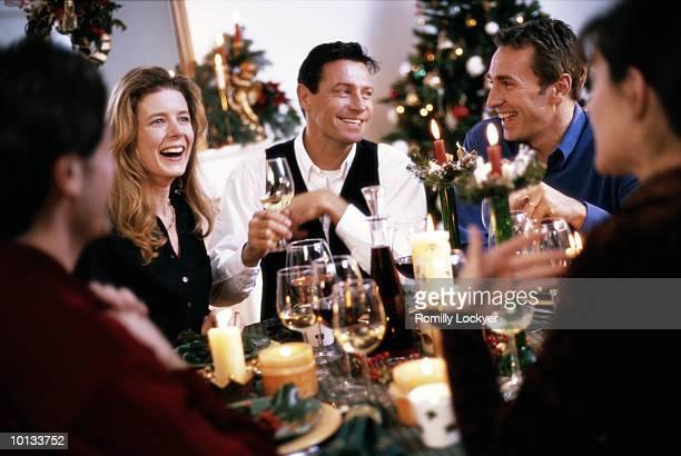 FRIENDS, DINNER, CHRISTMAS, HOME, FONDUE