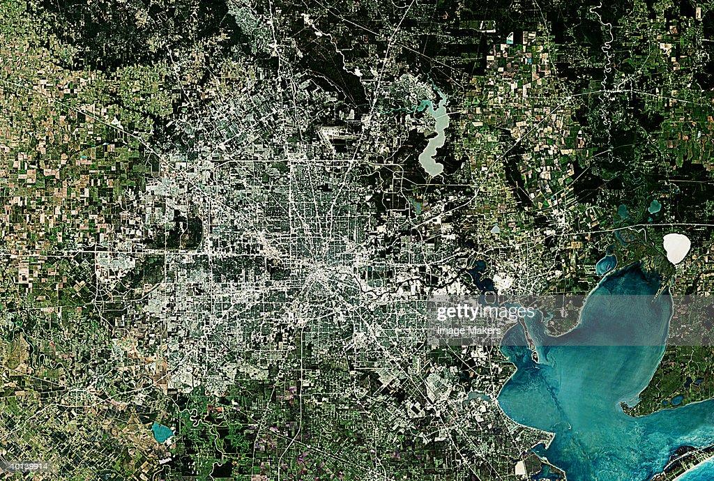 USA, SATELLITE IMAGE, HOUSTON