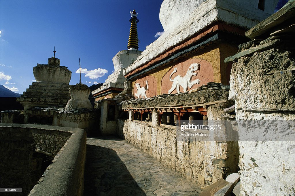 LAMAYURU MONASTERY, LADAKH, INDIA : Stock Photo