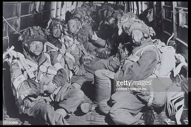 US PARATROOPERS ABOARD AIRCRAFT