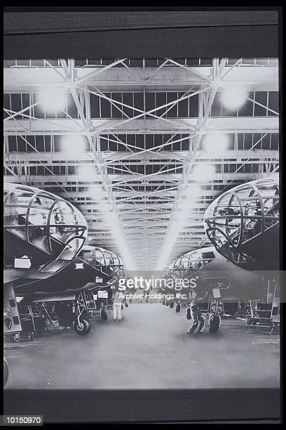 TWO ROWS OF DOUGLAS A-20 ATTACK BOMBERS
