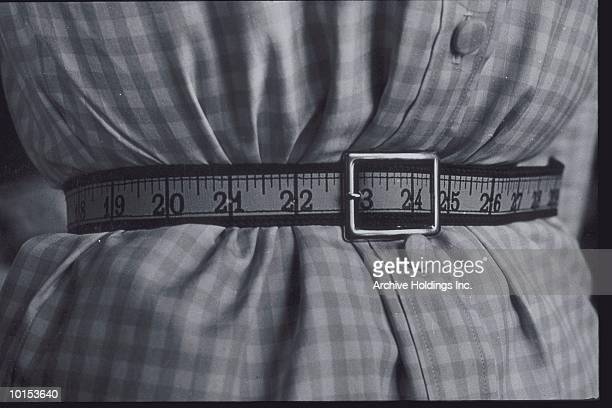 TAPE MEASURE BELT, 23 INCH WAIST, C 1950