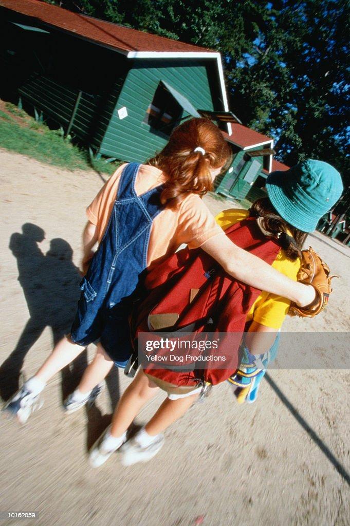 GIRLS AT SUMMER CAMP : Stock Photo