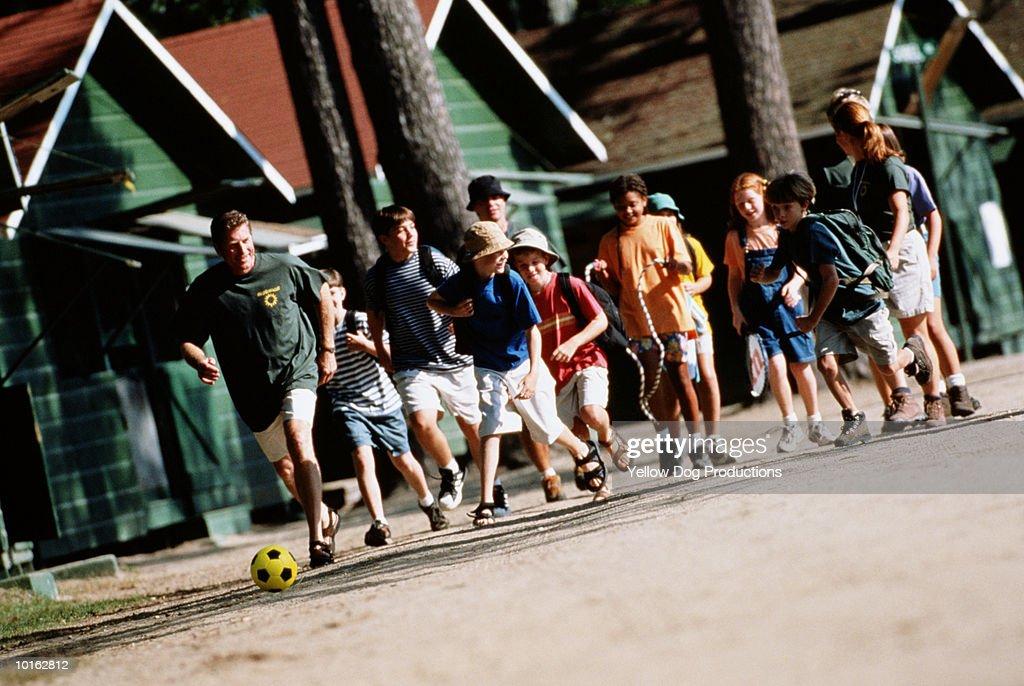 KIDS AT SUMMER CAMP : Stock Photo