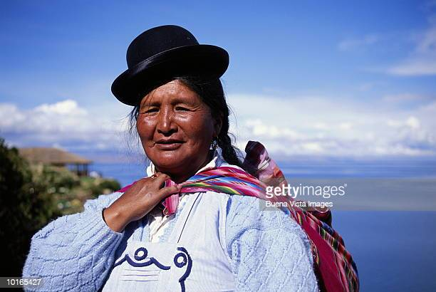 AYMARA INDIAN WOMAN, BOLIVIA, SOUTH AMERICA