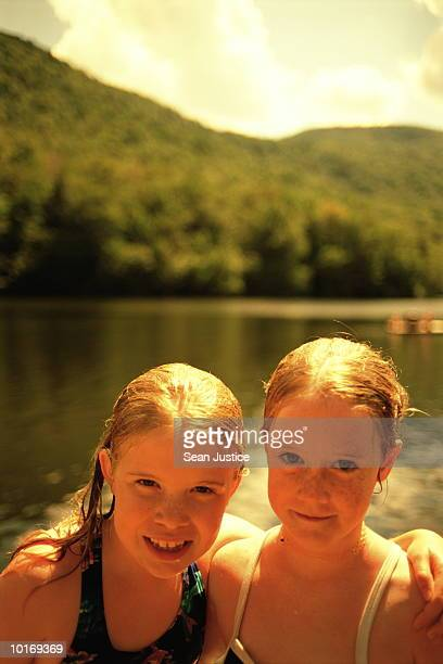 TWO GIRLS AT THE LAKE, PORTRAIT